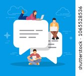 speech bubbles for comment and... | Shutterstock .eps vector #1065528536