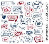 hand drawn set of speech... | Shutterstock .eps vector #1065528698