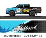 truck graphic. cartoon of angry ... | Shutterstock .eps vector #1065529478
