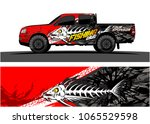 truck graphic. cartoon of angry ... | Shutterstock .eps vector #1065529598