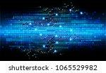 binary circuit board future... | Shutterstock .eps vector #1065529982