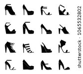set of icons of women's shoes ... | Shutterstock .eps vector #1065532802