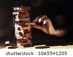 organization ideas concept with ... | Shutterstock . vector #1065541205