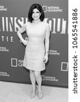 Small photo of New York, NY - April 9, 2018: Tamsen Fadal wearing Christian Dior dress attends National Geographic presents America Inside Out with Katie Couric at Museum of Modern Art