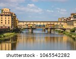 ponte vecchio of florence ... | Shutterstock . vector #1065542282