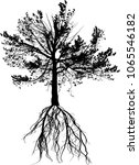 illustration with pine tree... | Shutterstock .eps vector #1065546182
