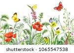 floral horizontal seamless...   Shutterstock . vector #1065547538