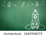 startup rocket for business... | Shutterstock . vector #1065548375