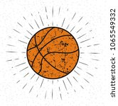 vintage basket ball with... | Shutterstock .eps vector #1065549332