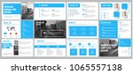 vector presentation template... | Shutterstock .eps vector #1065557138