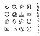 pin icon with cat  fingerprint...