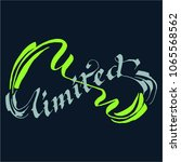 unlimited lettering calligraphy | Shutterstock .eps vector #1065568562