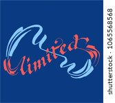 unlimited lettering calligraphy | Shutterstock .eps vector #1065568568