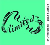 unlimited lettering calligraphy | Shutterstock .eps vector #1065568595