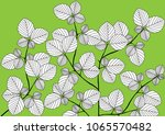abstract leaves with branch... | Shutterstock .eps vector #1065570482