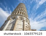 leaning tower of pisa  italy ... | Shutterstock . vector #1065579125