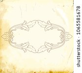 retro baroque decorations... | Shutterstock .eps vector #1065581678