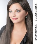 beautiful lady with small... | Shutterstock . vector #1065582056