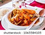 classic portuguese sea food... | Shutterstock . vector #1065584105
