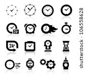 clock icons | Shutterstock .eps vector #106558628