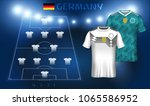 germany soccer jersey or team... | Shutterstock .eps vector #1065586952