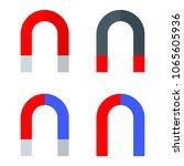 attraction magnet set. flat...   Shutterstock .eps vector #1065605936