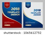 layout template design of the... | Shutterstock .eps vector #1065612752