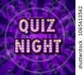 pub quiz announcement poster.... | Shutterstock .eps vector #1065613562
