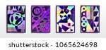 abstract multicolored covers.... | Shutterstock .eps vector #1065624698