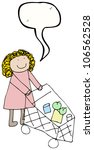 child's drawing of a mom... | Shutterstock . vector #106562528