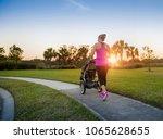 beautiful  fit women walking... | Shutterstock . vector #1065628655