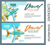 vector gift travel voucher... | Shutterstock .eps vector #1065632672