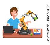 developer student boy... | Shutterstock .eps vector #1065638108