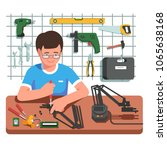 young electronics and... | Shutterstock .eps vector #1065638168