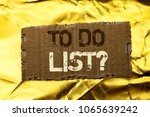 Small photo of Word writing text To Do List Question. Business concept for Asking How Questionnaire Inquiry Problem Questioning written on tear Cardboard Piece on the Golden textured background.