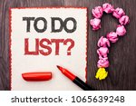 writing note showing  to do... | Shutterstock . vector #1065639248