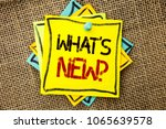 text sign showing what s new... | Shutterstock . vector #1065639578