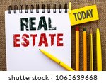 word writing text real estate.... | Shutterstock . vector #1065639668