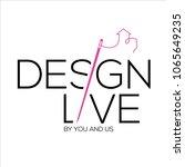 design vector logo . decoration ... | Shutterstock .eps vector #1065649235