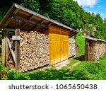 Hallstatt  Austria. Wood Stack...