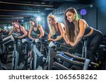 Sporty Girls Riding Exercise...