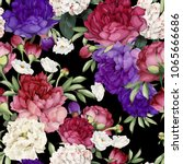 seamless floral pattern with... | Shutterstock .eps vector #1065666686