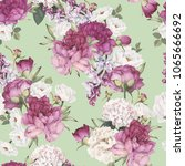 seamless floral pattern with... | Shutterstock .eps vector #1065666692