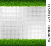 green grass borders transparent ... | Shutterstock .eps vector #1065669158