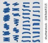 blue ribbon set in transparent... | Shutterstock .eps vector #1065669215