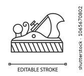 jack plane linear icon....   Shutterstock .eps vector #1065670802