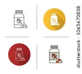 rx pills bottle icon. medical... | Shutterstock .eps vector #1065670838