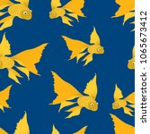 pattern of the goldfishes in... | Shutterstock .eps vector #1065673412