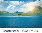 bora bora landscape | Shutterstock . vector #1065674012