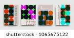 covers templates set with... | Shutterstock .eps vector #1065675122
